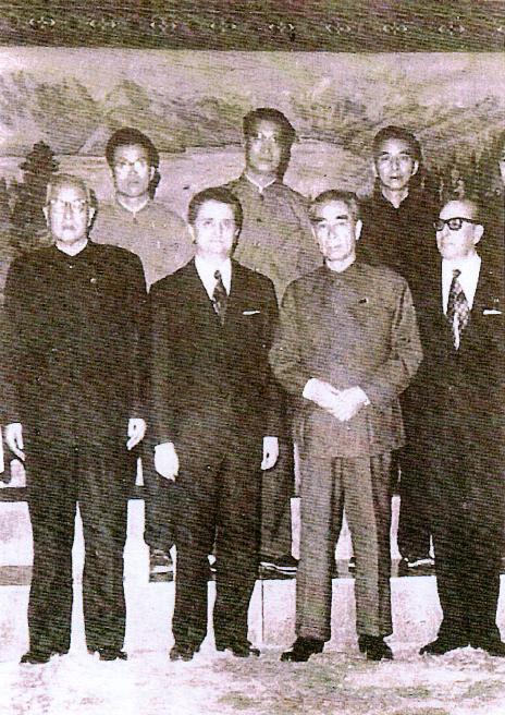 1970, Pechino. Il Primo Ministro Zhou Enlai incontra Vittorino Colombo.