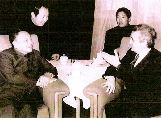 Vittorino Colombo incontra Deng Xiaoping.